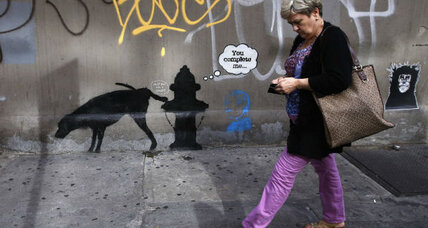 Banksy fools New Yorkers, but not one savvy mom (+video)