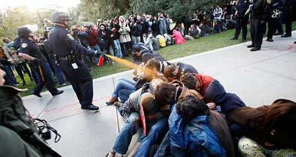'Pepper spray' cop gets bigger payout than sprayed students. Wrong message?