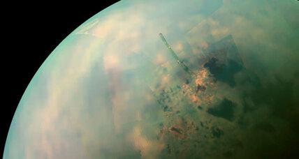 Titan's 'Great Salt Lake'? North pole of Saturn moon looks like Utah.
