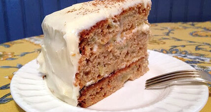 Roasted apple layer cake