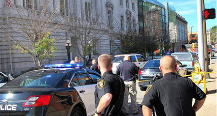 Ex-cop killed after shooting at US courthouse in West Virginia