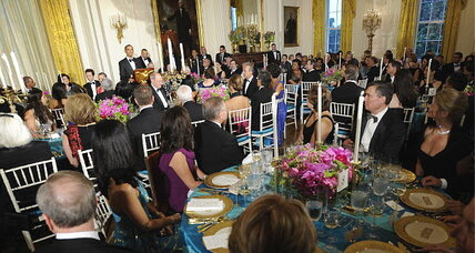 Are state dinners going the way of the dodo under Obama?