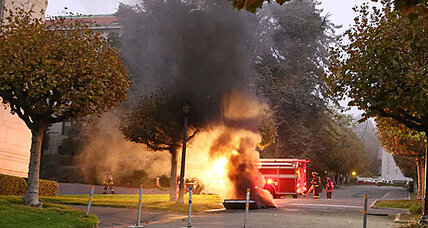 UC Berkeley explosion outside California Hall