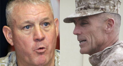 Marine generals fired? Generals 'retire' in wake of Afghan debacle.