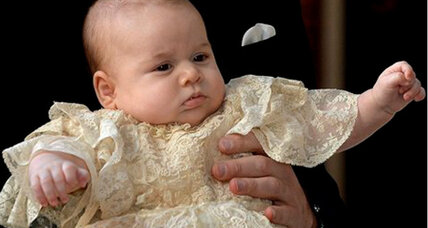 Royal christening details: 3-month-old Prince George is christened in London