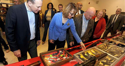 Gabrielle Giffords attends her first gun show since her shooting