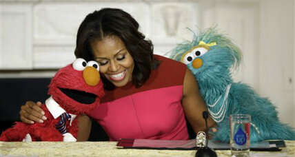 'Sesame Street' characters join Michelle Obama's healthy food campaign