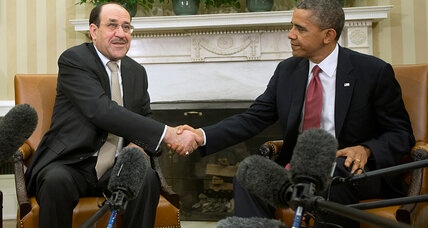 Iraq's Maliki brings wish list to Washington. Why are officials unmoved?