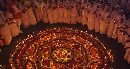 Hindus celebrate Diwali, the Festival of Lights