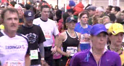 Pamela Anderson NYC marathon run raises $76,000 for Haiti charity (+video)