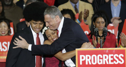Bill de Blasio scores win in N.Y.C. mayoral race, claims liberal mandate