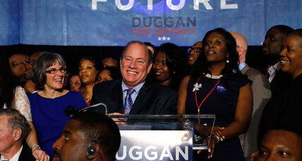 Detroit elects fix-it CEO as mayor, but his hands could be tied (+video)