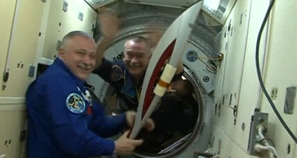 Sochi Olympic torch's excellent adventure reaches outer space (+video)