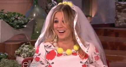 Kaley Cuoco says 'I do' on 'Ellen' (+ video)