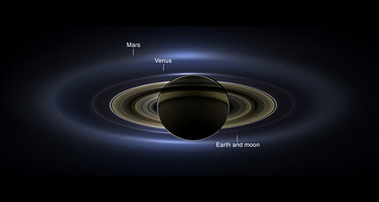 Spectacular NASA panorama shows Saturn, Earth