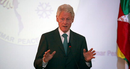 Bill Clinton urges reconciliation in surprise trip to Myanmar