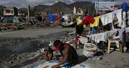 Aid distribution underway in typhoon-stricken Philippines