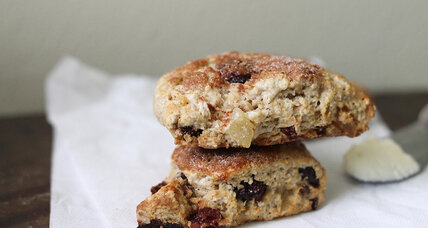 Ginger cranberry scones