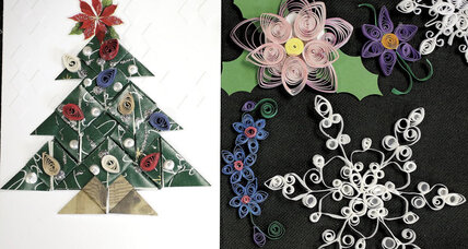 Christmas cards, pins, ornaments: Seniors learn the lost art of quilling (+video)