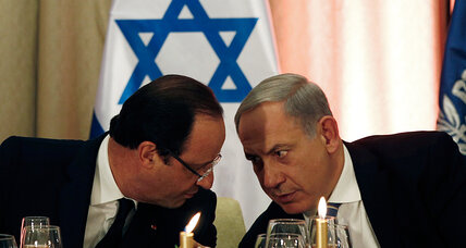 Miffed at Obama over Iran, Netanyahu cozies up to France's Hollande