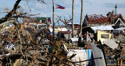 In remote villages, typhoon aid comes from far-flung Filipino families