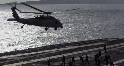 USS George Washington: warship turned floating aid hub serves 18,000 meals daily (+video)
