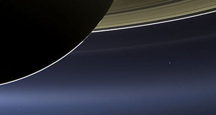 Rare photograph of (itty bitty) Earth as seen from Saturn
