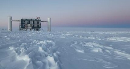 Subatomic particles found in mile-deep ice are of interstellar origins