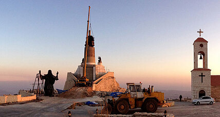 Jesus statue in Syria rises 105 feet above civil war