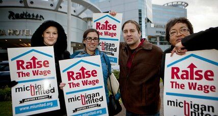 Raise minimum wage? One answer to income disparity, advocates say (+video)
