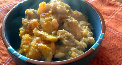 The first Thanksgiving: Wampanoag autumn stew