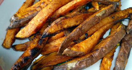 Spiced and baked sweet potato fries