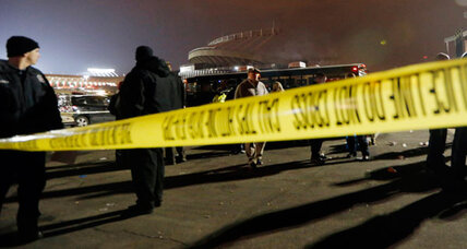 Arrowhead homicide? Killing highlights postgame fan violence. (+video)