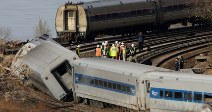 Derailed New York train was going 82 m.p.h. in 30 m.p.h. zone, feds say