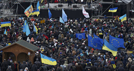 As protests boil, EU keeps arms open to Ukraine