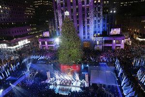 Rockefeller Center Christmas tree lighting dazzles millions - CSMonitor.com & Rockefeller Center Christmas tree lighting dazzles millions ... azcodes.com