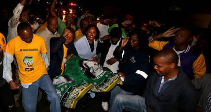 South Africans gather to pay their respects at Mandela's home