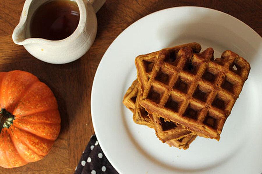 Spiced pumpkin waffles - CSMonitor.com
