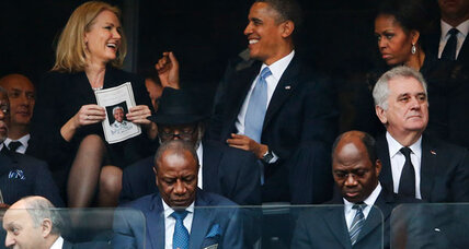 Obama takes selfie at Mandela memorial. Inappropriate? (+video)