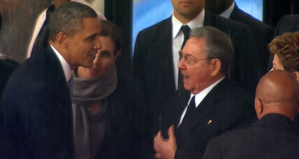Obama shakes hands with Castro. Should he have snubbed Cuban leader?