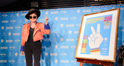 Yoko Ono's persistent 'imagining': fewer hungry people in the world