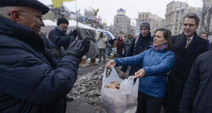 Russia cries foul over Western embrace of Ukraine's demonstrators