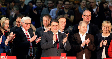 Social Democrats join grand coalition, Germany's political limbo nears end
