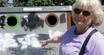Irmela Mensah-Schramm wages a private war on Nazi and other hate-based graffiti