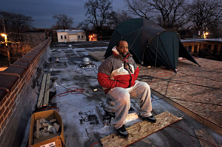 Corey Brooks Camped On A Rooftop To Boost His Chicago