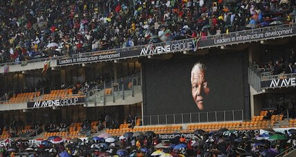 Mandela: under gray skies, a vibrant celebration of S. Africa's 'greatest son'