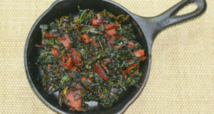 Collard greens to pair with black-eyed peas