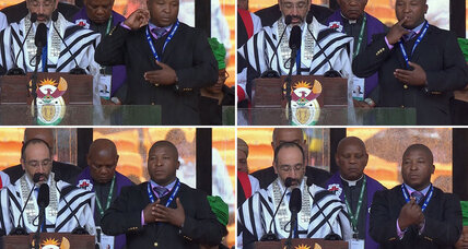 Sign language interpreter at Mandela memorial was 'fake,' official says