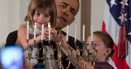 Obama celebrates the end of Hanukkah at the White House