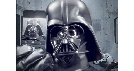 Darth Vader loses face. Do selfies strip authority?